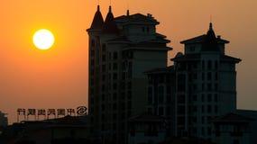 Coucher du soleil de Suzhou aucun de gare Images libres de droits
