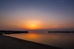 Coucher du soleil de Sventoji Photo stock