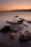 Coucher du soleil de Taba de la Mer Rouge Photo libre de droits
