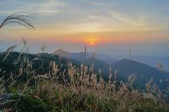Coucher du soleil de Tai Mo Shan Images libres de droits