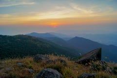 Coucher du soleil de Tai Mo Shan Image libre de droits