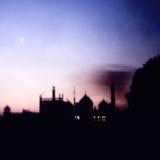 Coucher du soleil de Taj image stock