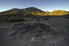Coucher du soleil de Teide Images stock