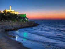 Coucher du soleil de Tel Aviv Jaffa, Israël Images libres de droits