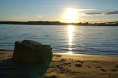Coucher du soleil de temps Images stock