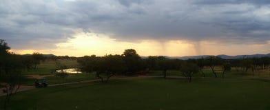 Coucher du soleil de terrain de golf de Zabula Photographie stock