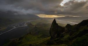 Coucher du soleil de Thorsmork, Islande banque de vidéos