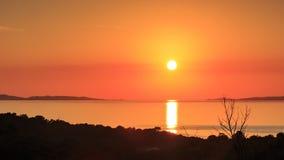 Coucher du soleil de Timelapse dans le ` Azur France de Cote d clips vidéos