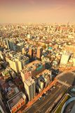 Coucher du soleil de Tokyo Photo stock