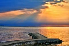 Coucher du soleil de Torekov Images libres de droits