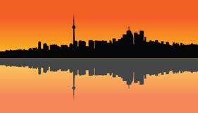 Coucher du soleil de Toronto Images libres de droits