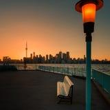 Coucher du soleil de Toronto Photographie stock libre de droits