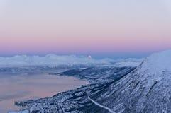 Coucher du soleil de Tromsø Photo libre de droits