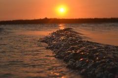Coucher du soleil 3 de vague Photographie stock libre de droits