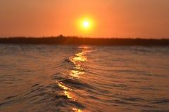 Coucher du soleil 6 de vague Photos stock