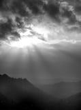 Coucher du soleil de vallée photographie stock