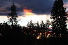Coucher du soleil 3 de vallée de Rincon Photos stock
