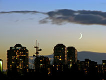 Coucher du soleil de Vancouver Images libres de droits