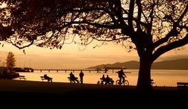 Coucher du soleil de Vancouver Photos libres de droits
