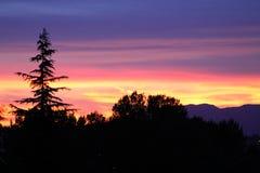 Coucher du soleil de Vancouver Photographie stock libre de droits