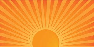 Coucher du soleil de vecteur Photographie stock libre de droits