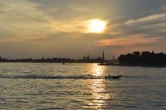 Coucher du soleil de Venezian photos libres de droits