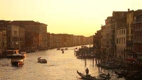 Coucher du soleil de Venise banque de vidéos
