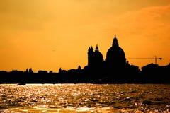Coucher du soleil de Venise Photos stock