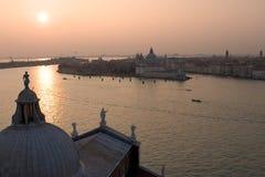 Coucher du soleil de Venise image stock