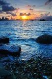Coucher du soleil de Victoria Images libres de droits