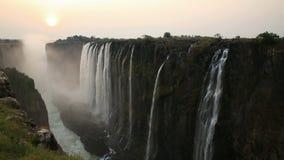 Coucher du soleil de Victoria Falls clips vidéos
