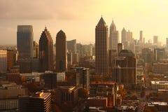 Coucher du soleil de ville de chute Photo libre de droits