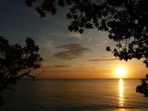 Coucher du soleil de Visayan Photo libre de droits
