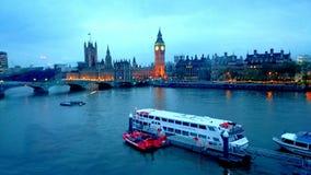 Coucher du soleil de vue de Londres Photographie stock libre de droits