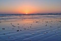 Coucher du soleil de vue de mer Image libre de droits