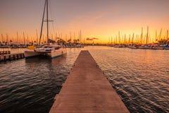 Coucher du soleil de Wai Harbor d'aile du nez Image libre de droits