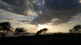 Coucher du soleil de Waianae Photo stock