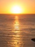 Coucher du soleil de Waikiki Photographie stock libre de droits