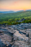 Coucher du soleil de Wilburn Ridge, Grayson Highlands, la Virginie photos libres de droits