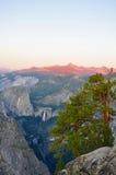 Coucher du soleil de Yosemite Photographie stock