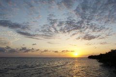Coucher du soleil de Zanzibar Photo libre de droits