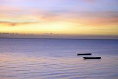Coucher du soleil de Zanzibar Image libre de droits
