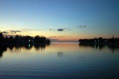 Coucher du soleil des Bahamas Photos stock