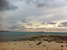 Coucher du soleil des Bahamas Photo libre de droits