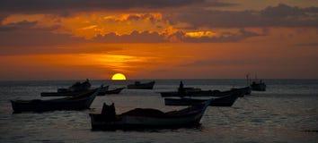 Coucher du soleil des Caraïbes photo libre de droits