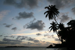 Coucher du soleil des Caraïbes Image libre de droits