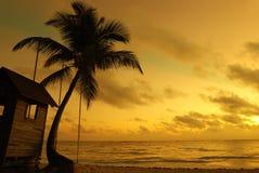 coucher du soleil des Caraïbes Photographie stock libre de droits