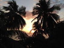 Coucher du soleil des Caraïbes Photos libres de droits