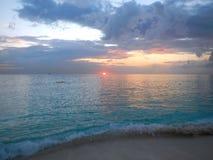 Coucher du soleil des Caraïbes Photographie stock