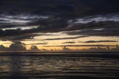 Coucher du soleil 1 des Fidji Image libre de droits